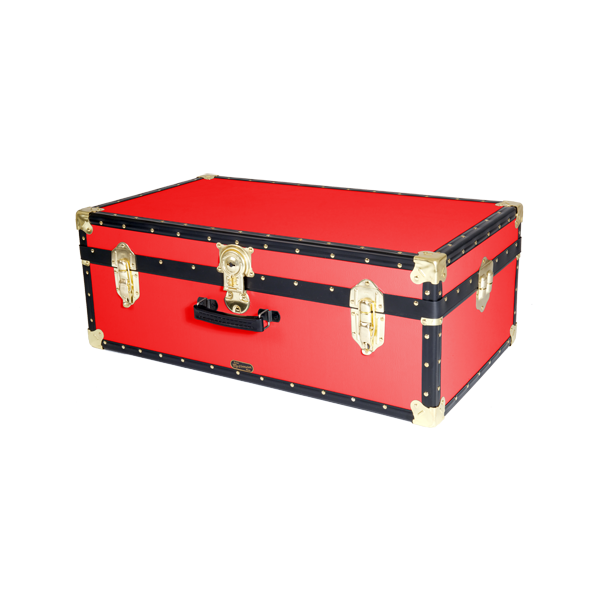 """Under Bed Storage With Wheels >> 33"""" Hand Luggage Trunk - Red - Mossman Trunks"""