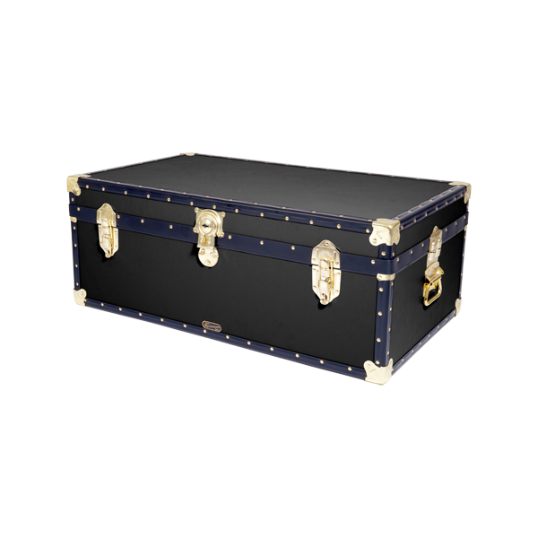 36 Quot Steamer Trunk Black Mossman Trunks