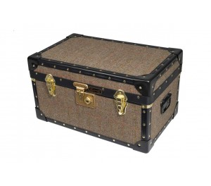 Tuck Box with Flip Lock - Harris Tweed