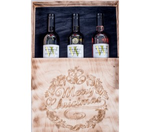 Burnt Wine Crate - 3 Bottle Holder