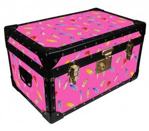 Tuck Box by Milly Green - Pink Feathers