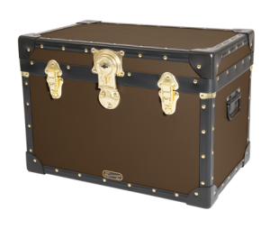Stool Box with Cabin Lock - Brown