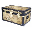 Tuck Box with Cabin Lock - Old Map