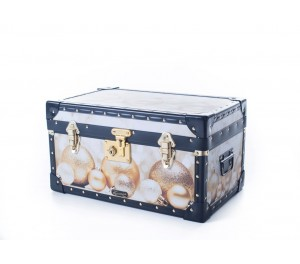 Tuck Box with Flip Lock - Gold Baubles
