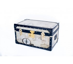 Tuck Box with Flip Lock - Old Map