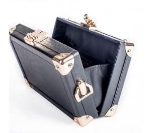 Hollycroft Trunk Clutch - Black
