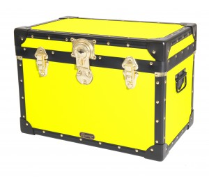 Stool Box with Cabin Lock - Fluorescent Yellow