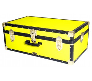 """33"""" Hand Luggage Trunk - Fluorescent Yellow"""