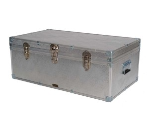 "36"" Steamer Trunk - Silver Alloy"
